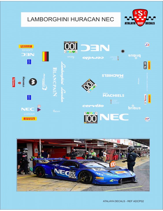 LAMBORGHINI GT3 HURACAN NEC