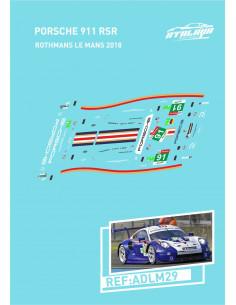 Porsche 991 RSR Rothmans Le Mans 2018