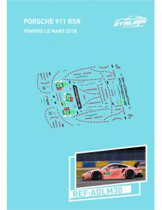 Porsche 991 RSR Pinkpig Le Mans 2018