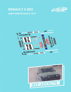 Renault 5 Gr2 Saby Montecarlo 1979