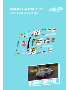 RenaultAlpine A110 Kindy Tourde France 1972