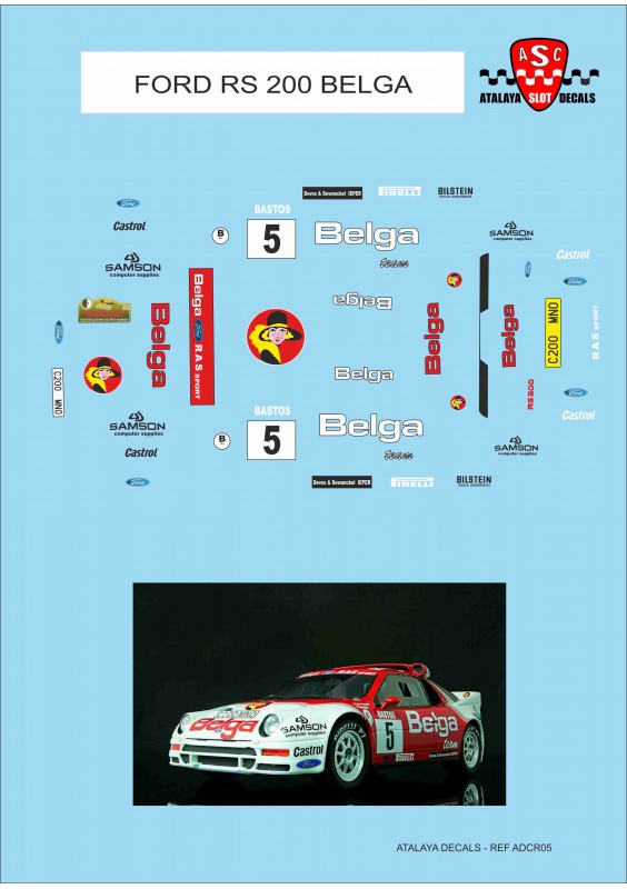 FORD RS 200 BELGA