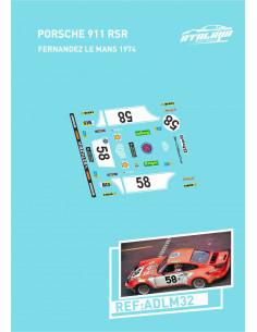 Porsche 911 RSR Fernandez Le Mans 1974