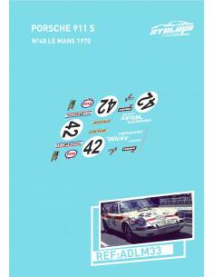 Porsche 911 s Nº42 Le Mans 1970