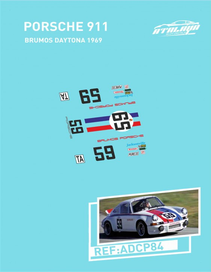 Porsche 911 Brumos Daytona 1969