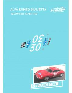 Alfa Romeo Giulietta SZ Coupedes Alpes 1960
