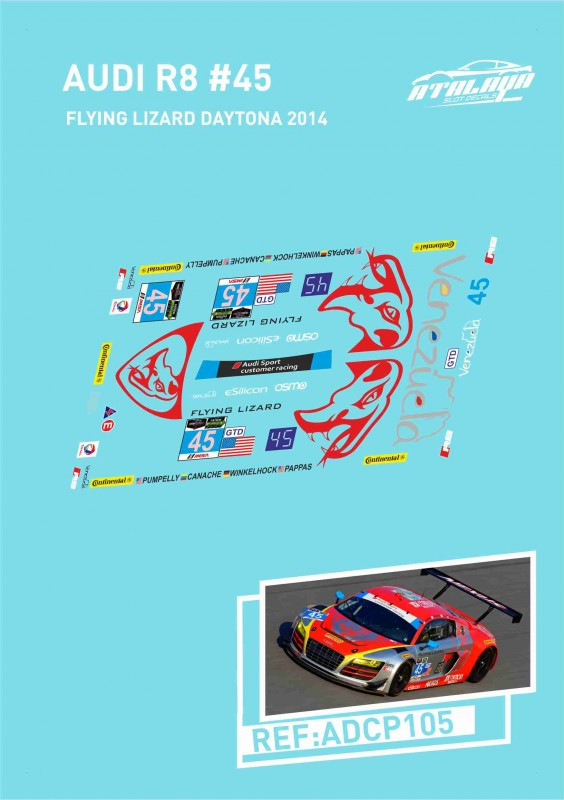 Audi R8 Flying Lizard Daytona 2014 N45