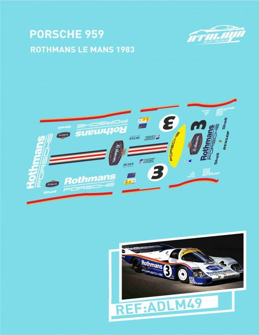 Porsche 959 Rothmans LeMans 1983