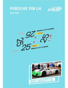 Porsche 908 LH Spa 1969