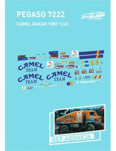 Pegaso 7222 CAMEL DAKAR 1987 ESCALA 1/43