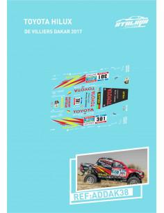 Toyota Hilux De Villiers Dakar 2017