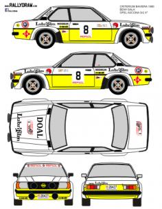 Opel Ascona GR2 Beny-Sala Criterium Baviera 1980