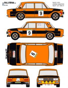 Seat 1430-124 Zanini Race 1973