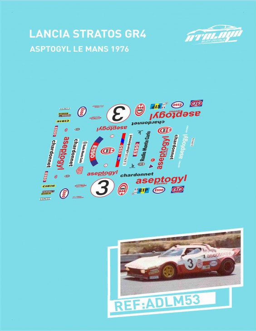Lancia Stratos GR4 Aseptogyl Le Mans 1976