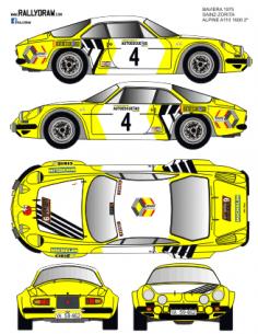 Renault Alpine A110 Sainz Baviera 1975