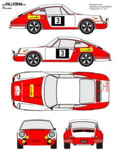 Porsche 911 Gargallo Baviera 1970