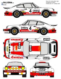 Porsche 911Alameras Catalunya 1982