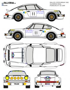 Porsche 911 Oliveras Costa Brava 1982