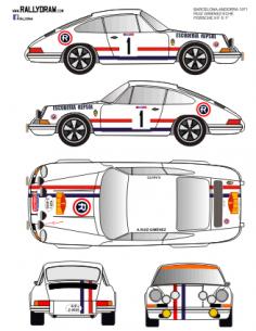 Porsche 911 Ruiz Gimenez Barcelona-Andorra 1971