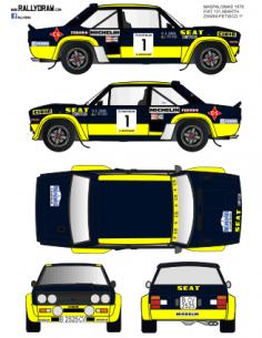 Fiat 131 Abarth Zanini Maspalomas 1978
