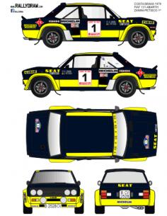 Fiat 131 Abarth Zanini Costa Brava 1979