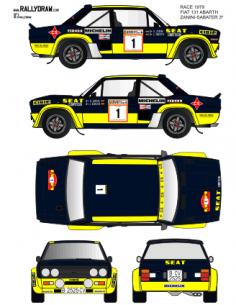 Fiat 131 Abarth Zanini Race 1979