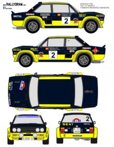 Fiat 131 Abarth Fombona Manzana 1980