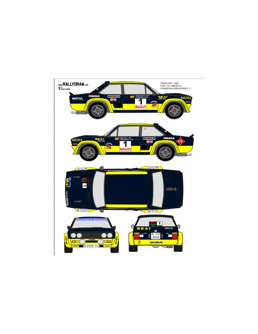 Fiat 131 Abarth Fombona Principe 1980