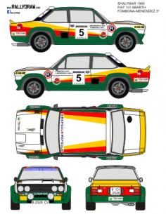 Fiat 131 Abarth Fombona Shalymar 1980
