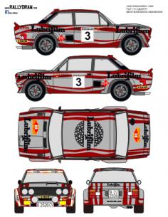 Fiat 131 Abarth Beny Vasco Navarro 1980