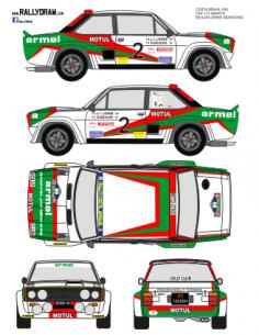 Fiat 131 Abarth Beguin Costa Brava 1981