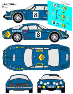 Renault Alpine A110 Pavon Race 1972