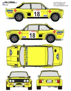 Fiat 131 Abarth Yolanda Costa Brava 1981