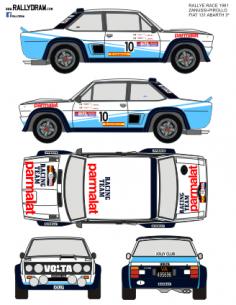 Fiat 131 Abarth Zanussi Race 1981