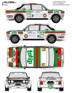 Fiat 131 Abarth Zanussi Costa Brava 1982