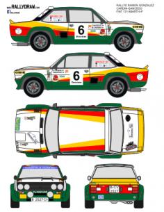 Fiat 131 Abarth Cardin Gonzalez 1982