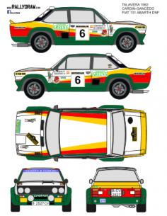 Fiat 131 Abarth Cardin Talavera 1982