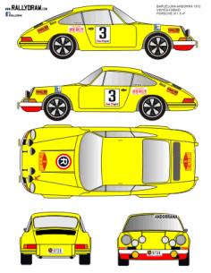 Porsche 911 Vinyes Barcelona-Andorra 1972