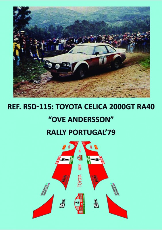 Toyota Celica 2000GT RA40 Andersson Portugal 1979