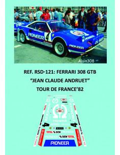 Ferrari 308 GTB Andruet Tour de France 1982