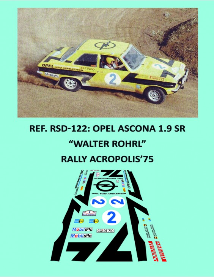 Opel Ascona 1.9SR Rohrl Acropolis 1975