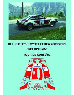 Toyota Celica 2000GT 81 Eklund Tour de Corse 1981