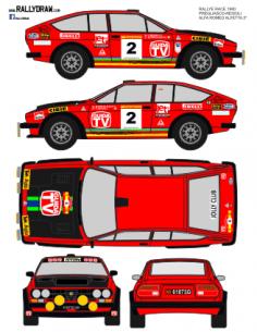 Alfa Romeo Gtv Pregliasco Race 1980