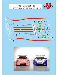 Porsche 911 RSR -Rothmans Le Mans 2018
