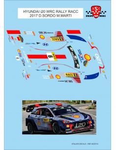 HYUNDAI i20 WRC RALLY RACC 2017 D.SORDO M.MARTI