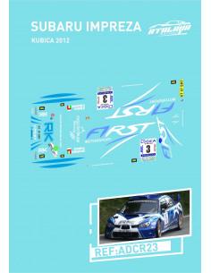 Subaru Imprezza Kubica 2012