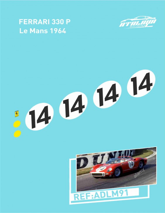 Ferrari 330 P Le Mans 1964