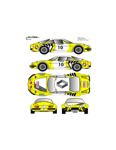 Renault Alpine a110 Sainz Race 1975