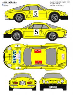Renault Alpine a110 Oanes Pazos 1981