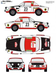 Fiat 124 Abarth Jaroscevick Firestone 1975